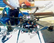 A hexocopter with a GoPro 3 used by T News TV Thai Live