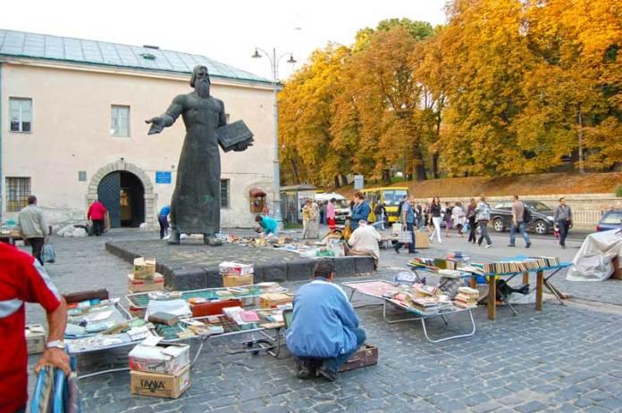 Пам'ятник Іванові Федорову у Львові