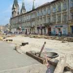 Ремонтні роботи на Привокзальній площі у Львові, квітень 2012