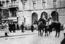 Російські війська у Львові, фото 1914 року