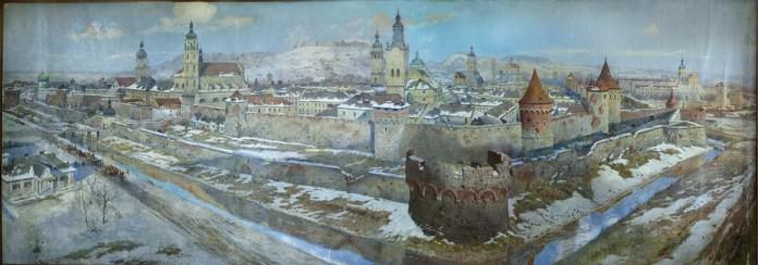Панорама Львова у XVIII столітті