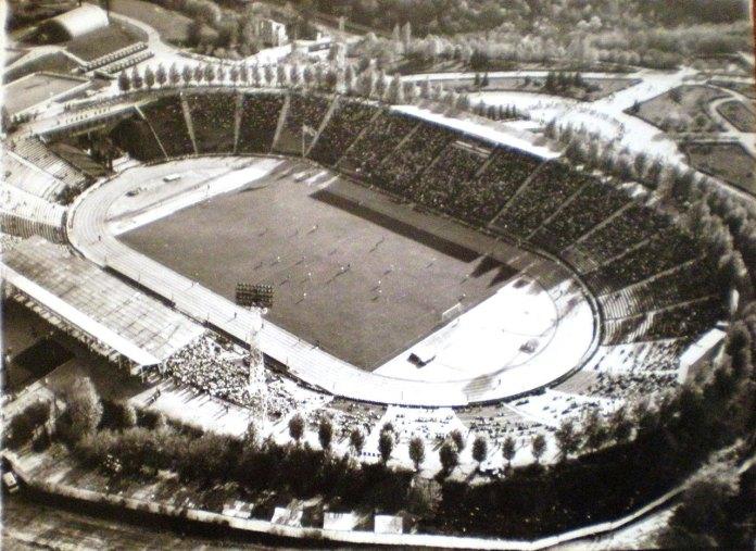 """Стадіон """"Україна"""" у Львові (колишній стадіон «Дружба»), фото 70-их років"""