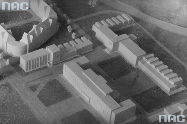 Макет нових будівель факультету машинобудування та електротехніки, 1936