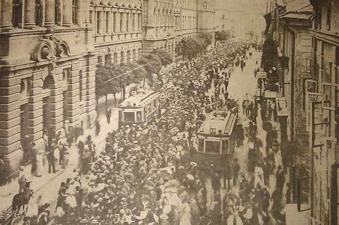 Солдати на нин. вул. Князя Романа, 22.06.1915 р.