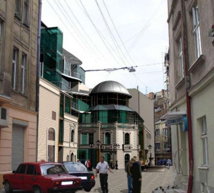 Проект ТРЦ Кіносвіт на вул. Нижанківського, за матеріалами забудовника