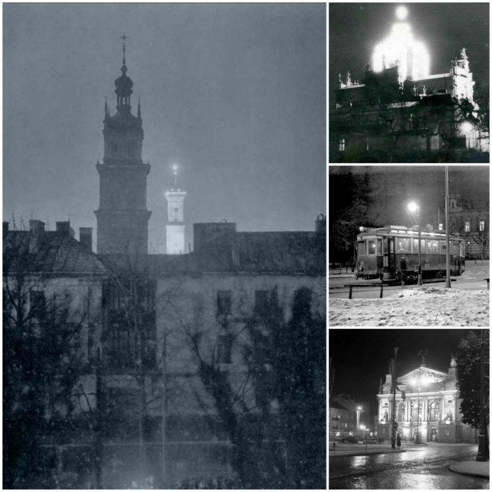 11 рідкісних нічних фотографій старого Львова
