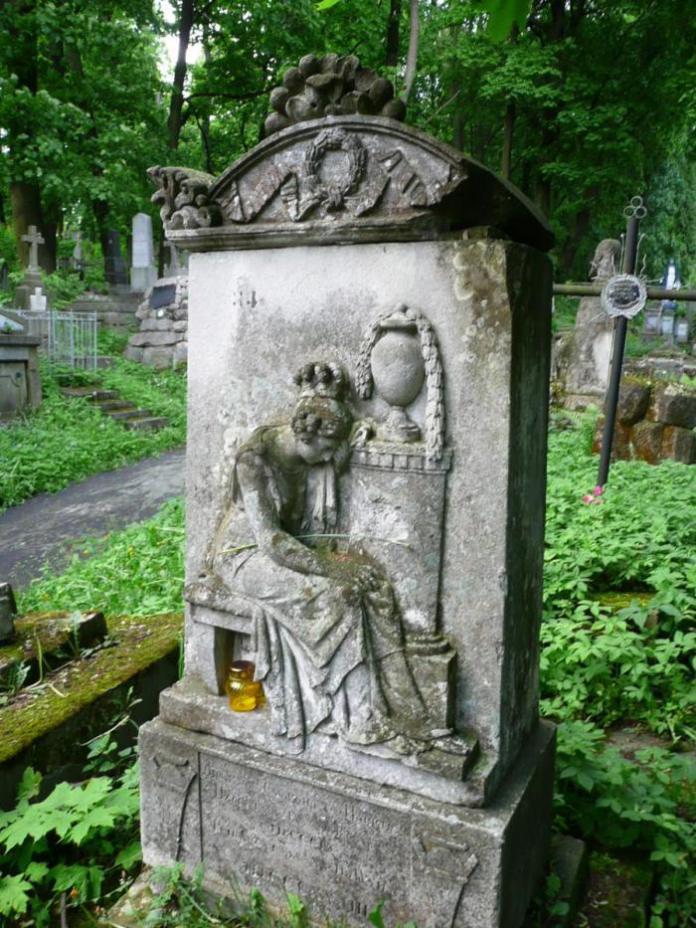 Пам'ятник на на могилі Емануїла Ільського (поле №15 на Личаківському цвинтарі)