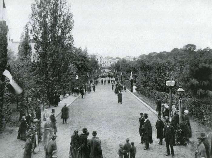 Відкриття вулиці Крашевського (нині С.Крушельницької), фото 1879 року