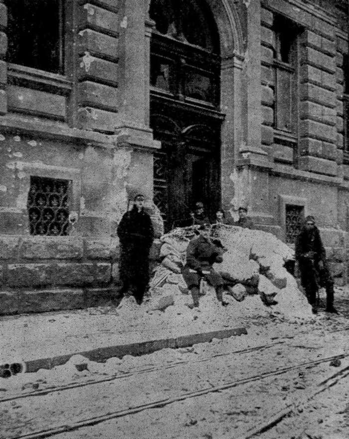 Польські позиції на вул. Сикстуська ( нині Дорошенка ), листопад 1918 року