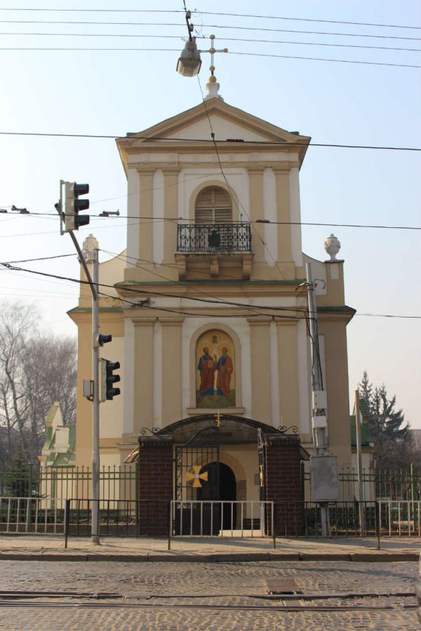 Фасад церкви Петра і Павла. Фото 2015 року