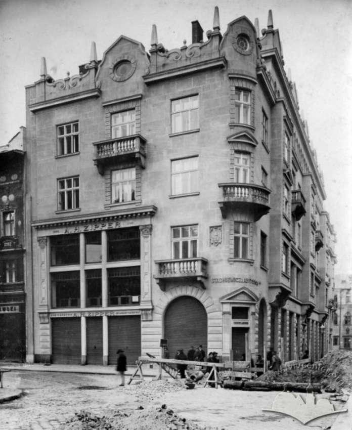 Нова будівля для торгового дому Ціппера. Фото 1912-1913 рр.