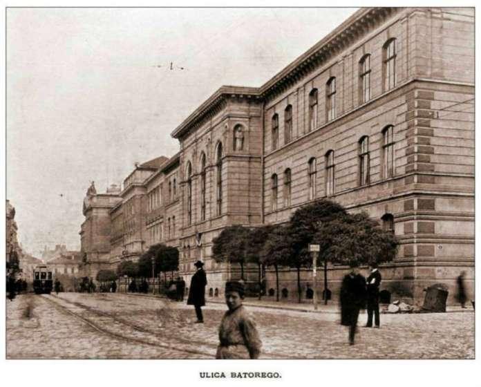 Гімназія Франца Йосифа на вул. Стефана Баторія. Фото 1904 року