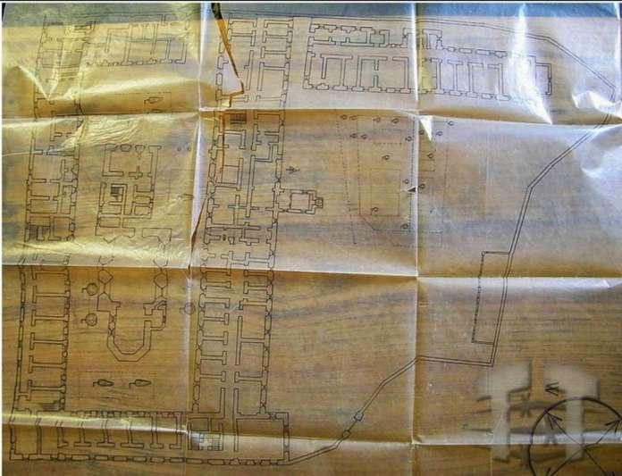 """Генеральний план комплексу """"Бригідок"""". Початок XX сторіччя"""