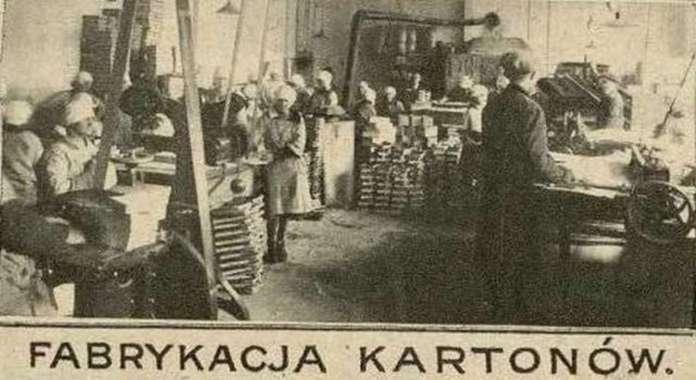 """Цех виготовлення упаковки """"Бранки"""". Фото 1925 року"""
