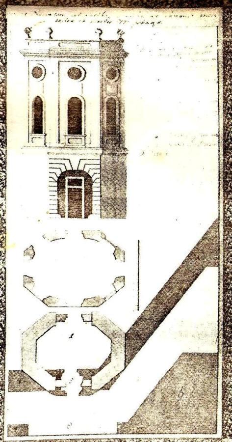 Креслення обсерваторії при колегії єзуїтів.