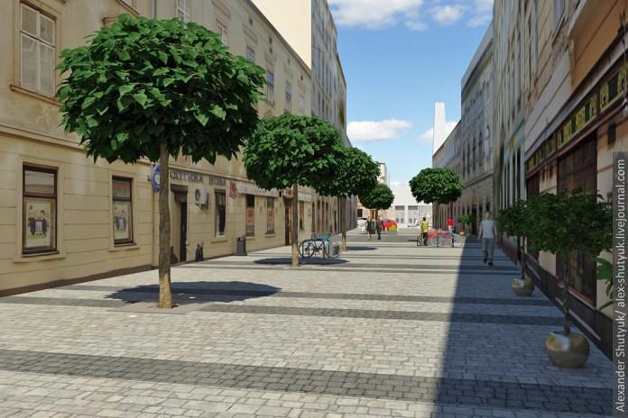 Як буде виглядати вулиця Леся Курбаса після завершення реконструкції