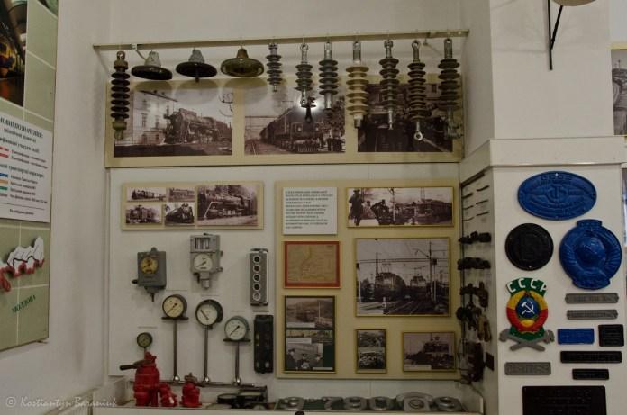 Музей історії Львівської залізниці, фрагмент експозиції.