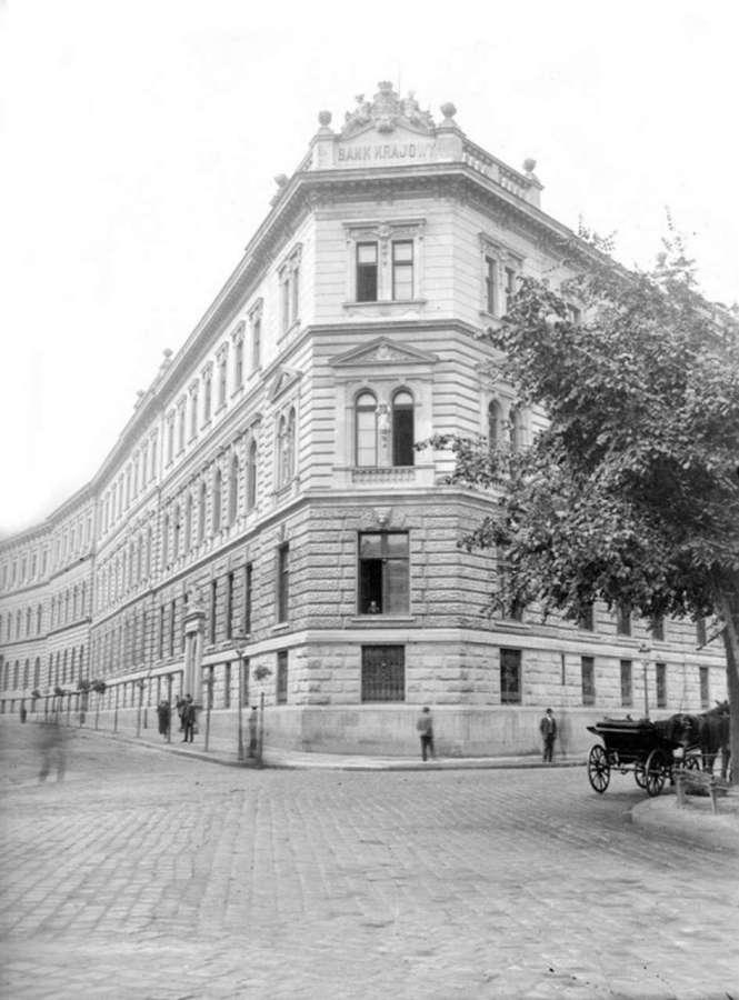 Вид з площі Смольки на ріг вулиць Костюшка та Міцкевича. Фото кінця XIX ст.