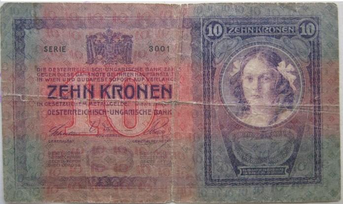 Банкнота номіналом 10 крон.