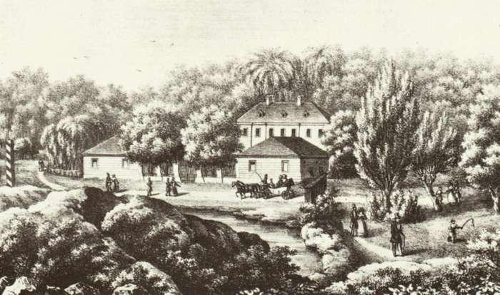 Погулянка на зображенні Кароля Ауера. 1840 рік