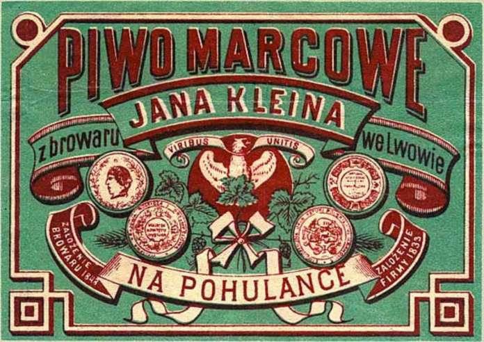 Етикетка бровару Кляйна на Погулянці, на місці якого збудують львівський винзавод.