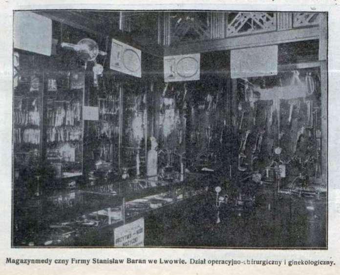 Операційно-хірургічний та гінекологічний відділи крамниці Барана. Фото 1924 року