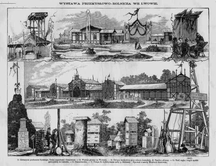 Сторінка з тогочасної преси із анонсом виставки 1877 року у саду Яблоновських