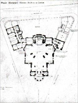 Костел Св. Анни. Конкурсний проект О. Сосновського. План, 1911 р.