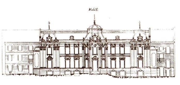 Фасади Палацу Більських. Архітектор П'єр Ріко де Тіргей, 1758-1760 рр.