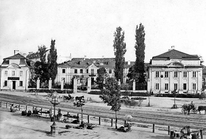 Палац Більських. Фото приблизно 1860-1870 років.