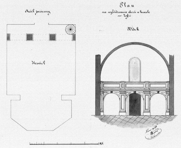 Проект хорів костелу Св.Софії (І. Winiarza)приблизно 1876 р.