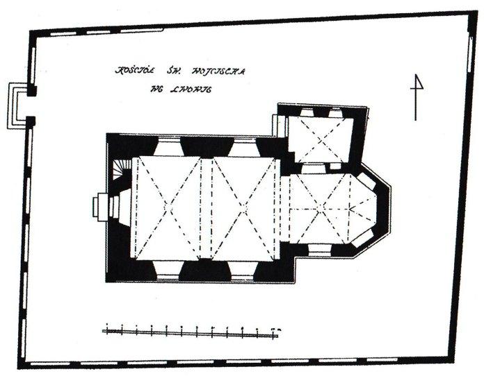 План костелу Св. Войцеха