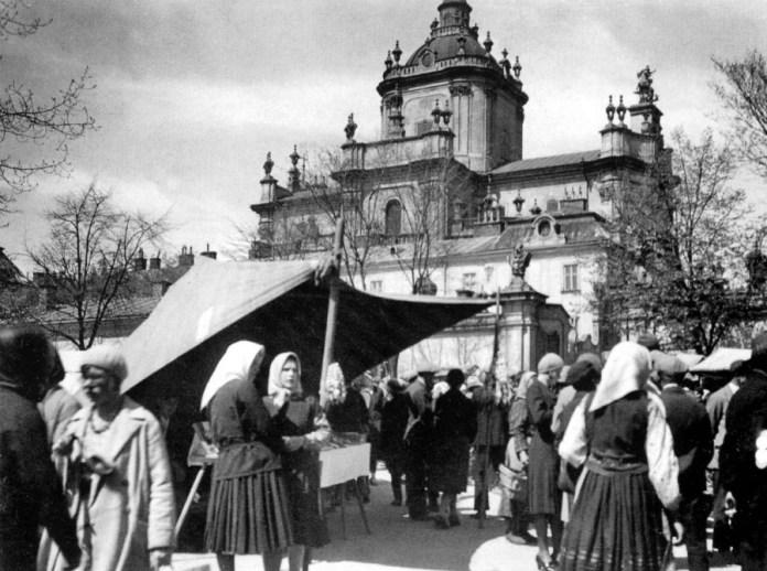 Святоюрський ярмарок на фото міжвоєнного періоду, до 1939 року