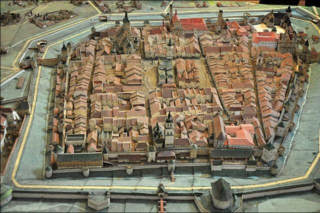 Пластична панорама міста станом на 1740-і роки