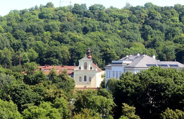 Церква Св. Климента Шептицького. 2015 р., вигляд з вежі Корнякта