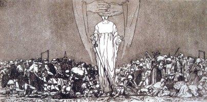 """Олена Кульчицька """"Страхіття війни"""", 1915 рік, папір, офорт, 18,5Х23,5"""
