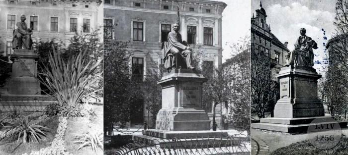 Монумент Александру Фредру з кількох ракурсів