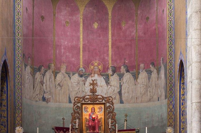 Фреска на тему Тайної вечері у Вірменській церкві у Львові, автор Ян Генрик Розен