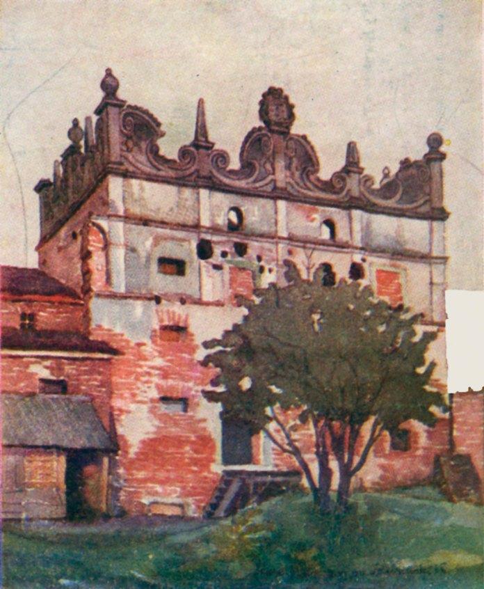 Замок в Старому Селі, головна башта, зображення 1925 року