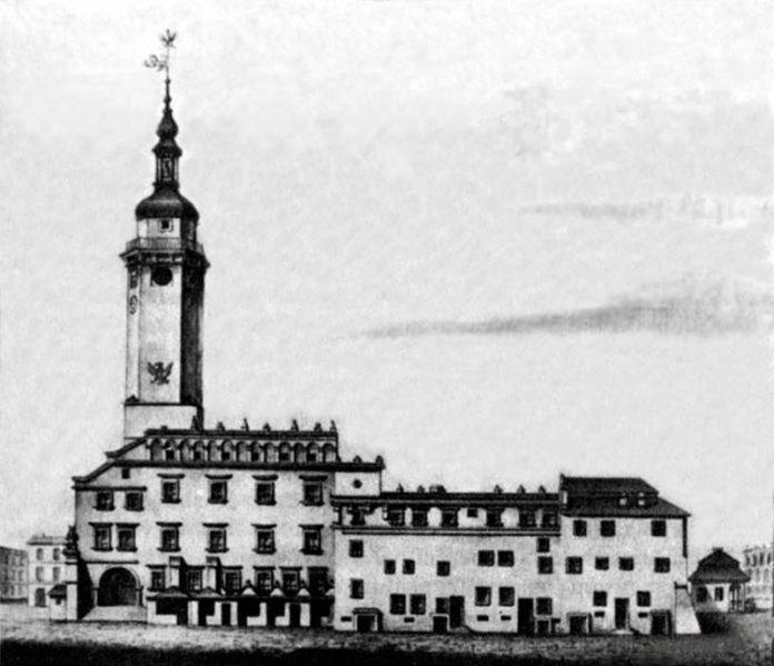 Львівська ренесансна ратуша, побудована за проектом вроцлавського архітектора Андрія Бемера на кошти Мартіна Кампіана в 1619 році