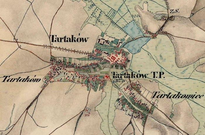 Тартаків на австрійській карті 1861-1864 рр.