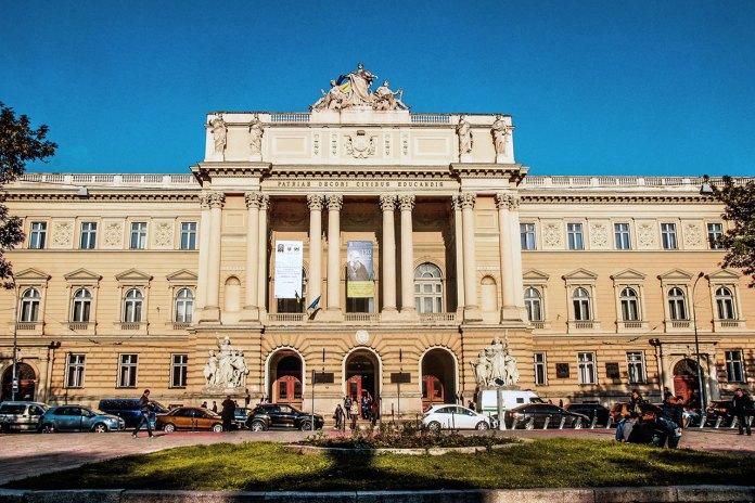 Будівля Галицького крайового сейму. Сьогодні – головний корпус ЛНУ ім..Франка.