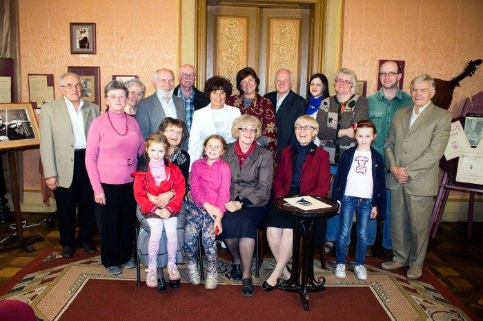 Учасники зустрічі присвяченій родині Цегельських.