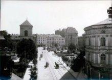 """Львів пл. Бернардинів, готель """"Краківський"""", фото 1925 р"""