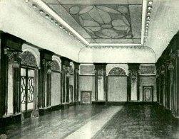 """Зал ресторану готелю """"Краківський"""". Проект М. Осінського, 1913 pік"""