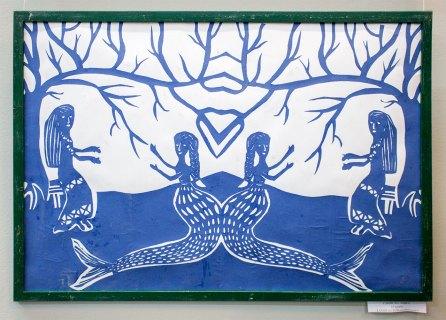Експозиція виставки дитячого малюнку, присвяченої 70-річчю Львівської дитячої художньої школи ім. Олекси Новаківського