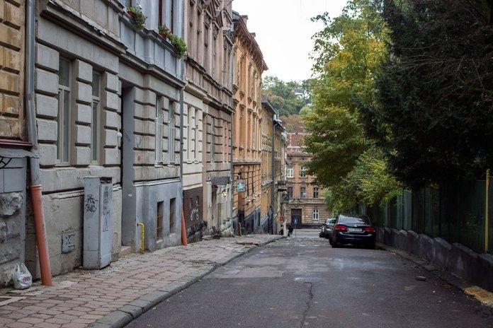 Вулиця Ольги Кобилянської, фото 2015 року