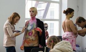 Учасники Шостого Міжнародного фестивалю тату-мистецтва TATTOO FEST 2015 у Львові