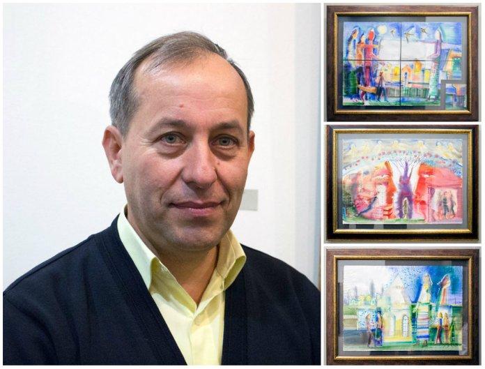 12 великоформатних робіт живопису на склі Романа Опалинського