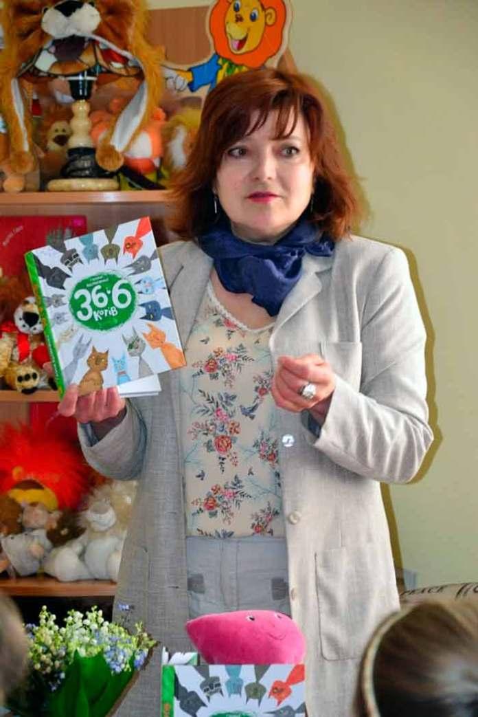 Письменниця Галиною Вдовиченко - авторка книги «36 і 6 котів»